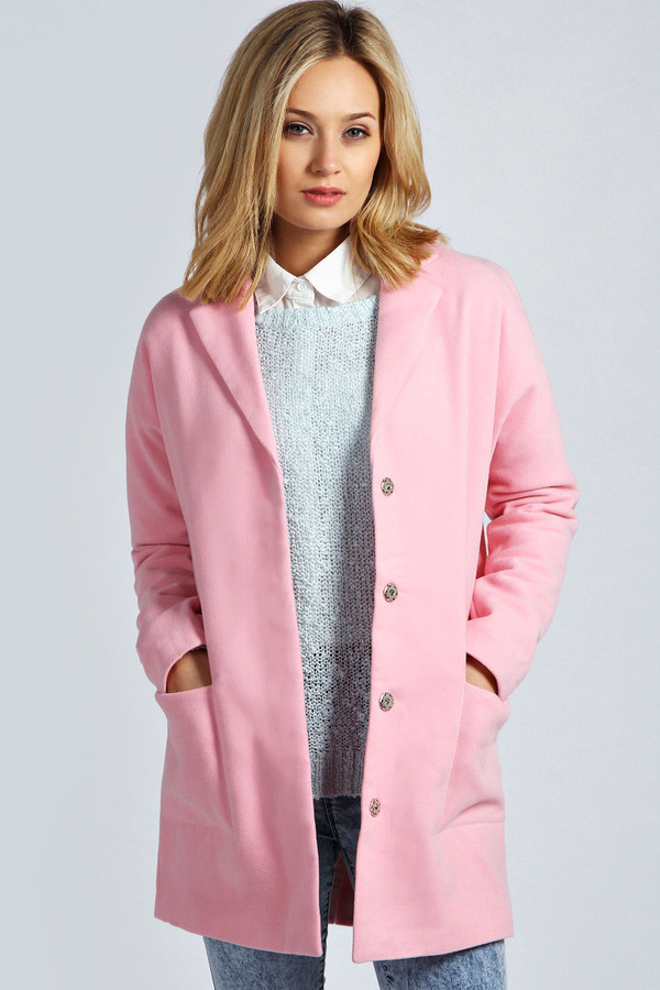 Boohoo Lilly Oversized Wool Look Boyfriend Coat | Where to buy ...