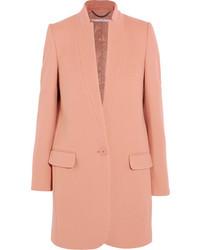 Stella McCartney Bryce Wool Blend Coat Pastel Pink