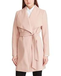 Lauren Ralph Lauren Crepe Wrap Coat