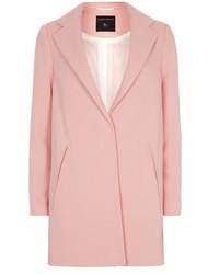 Dorothy Perkins Pink Textured Crepe Boyfriend Coat