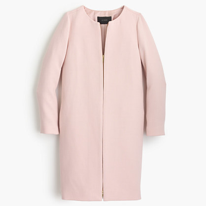 J.Crew Double Cloth Collarless Coat   Where to buy & how to wear