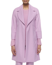 Double face wool long coat magenta medium 526184