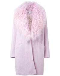 Elizabeth and James Fur Collar Coat