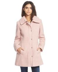 Jessica Simpson Basket Weave Fit Flare Coat