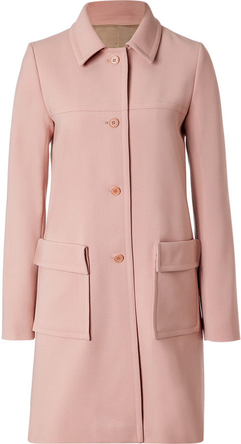 Jil Sander Navy Blush Wool Coat | Where to buy & how to wear