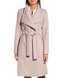 London wool blend long wrap coat medium 4913225