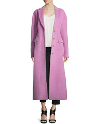 3.1 Phillip Lim Long Button Front Tailored Woolmohair Coat