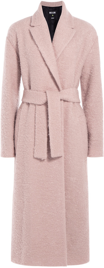 MSGM Textured Wool Mohair Coat | Where to buy & how to wear
