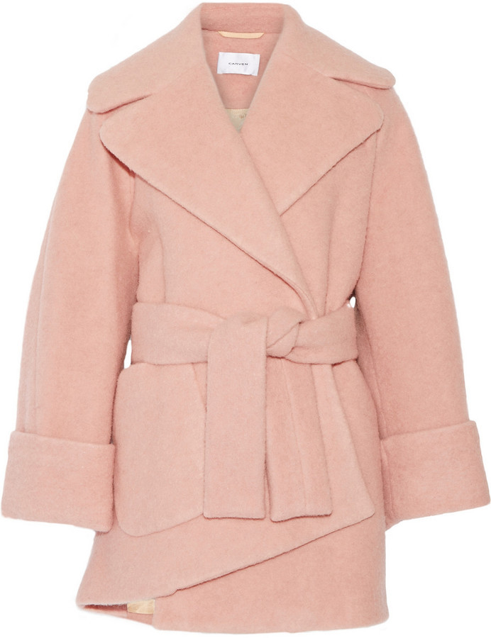 Carven Oversized Boiled Wool Blend Coat | Where to buy & how to wear