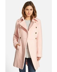 GUESS Petite Double Breasted Boucle Cutaway Coat