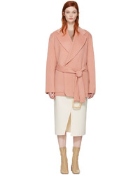 Acne Studios Pink Lilo Doubl Belted Coat