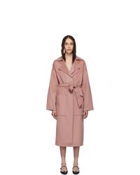 Nanushka Pink Wool Alamo Coat
