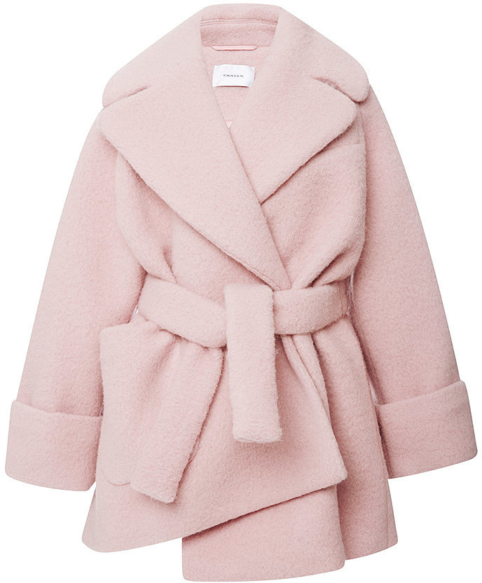 Carven Pink Wool Manteau Court Coat | Where to buy & how to wear