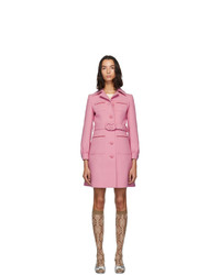 Gucci Pink Wool Short Coat