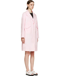Carven Pink Woven Volume Coat | Where to buy & how to wear