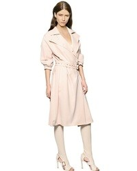 Salvatore Ferragamo Double Breasted Cady Trench Coat