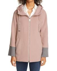 Herno Short Hooded Wool Blend Coat