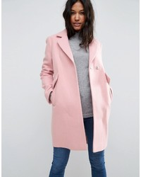 Asos Slim Coat With Pocket Detail