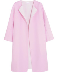 Jil Sander Two Tone Cashmere Coat Baby Pink