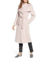 Ted Baker London Wide Collar Brushed Wrap Coat