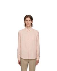 Kenzo Pink Corduroy Slim Fit Shirt