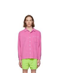 Pink Corduroy Shirt Jacket
