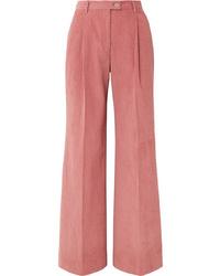 Acne Studios Pina Cotton Blend Corduroy Wide Leg Pants