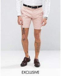 ONLY & SONS Skinny Shorts In Cotton Sateen
