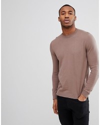 ASOS DESIGN Asos Cotton Jumper In Light Brown