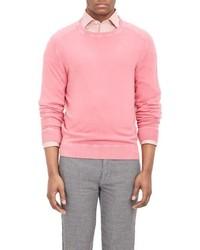 Massimo Alba Cashmere Crewneck Sweater Pink
