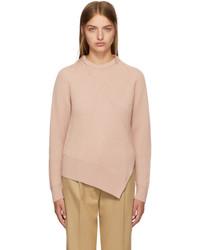 Cédric Charlier Cedric Charlier Pink Wool Asymmetric Sweater