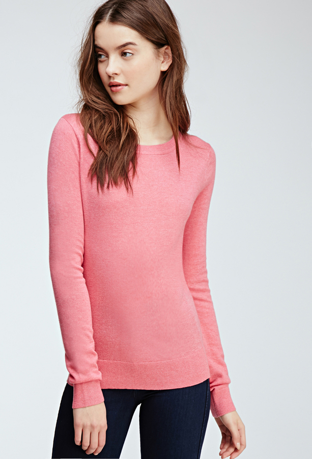 d8452bc42 Forever 21 Classic Crew Neck Sweater, $8   Forever 21   Lookastic.com