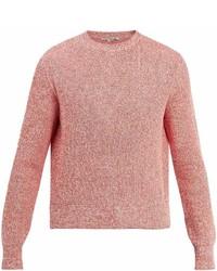 Stella McCartney Crew Neck Ribbed Knit Cotton Sweater