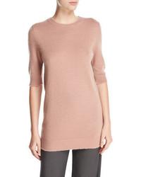 Long cashmere half sleeve sweater medium 765122