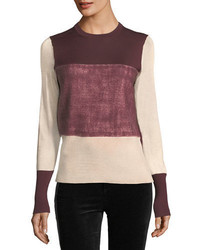 Marissa crewneck colorblock sweater medium 5359887