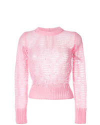 N°21 N21 Open Knit Feather Sweater