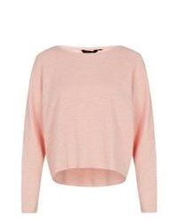 New Look Pink Batwing Slouch Sweater