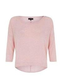 New Look Pink Wide Sleeve Boxy Jumper