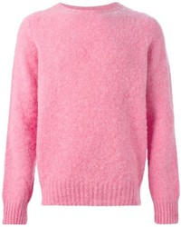 Men s Pink Crew-neck Sweaters by Polo Ralph Lauren  5258edf9ac6e2