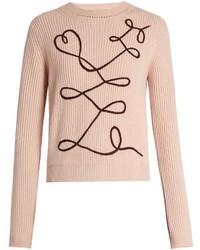 Roksanda Vanua Crew Neck Wool And Cashmere Blend Sweater