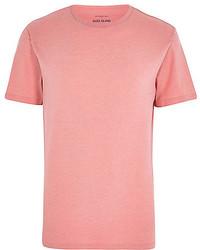 Pink Crew-neck T-shirt