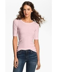 Halogen Ballet Neck Tee Pink Amour Medium P