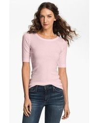 Halogen ballet neck tee pink amour x small p medium 729345