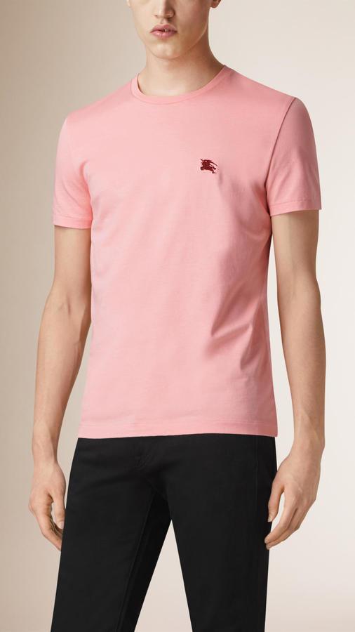 cb0ca4294 Burberry Liquid Soft Cotton T Shirt, $105 | Burberry | Lookastic.com