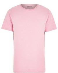 River Island Pink Crew Neck T Shirt