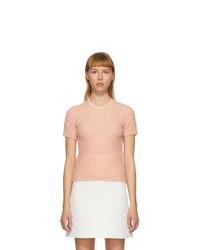 Fendi Pink Crinkled Viscose T Shirt