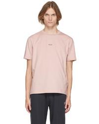 BOSS Pink Logo T Shirt