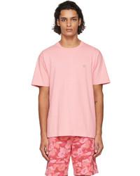 BAPE Pink Shark One Point T Shirt