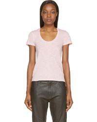 Pink slub logo t shirt medium 216095