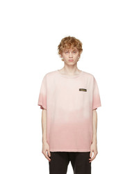 We11done Pink Washed Butterfly T Shirt